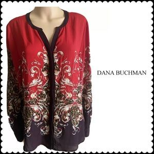 Dana Buchman Animal Print Polyester Blouse